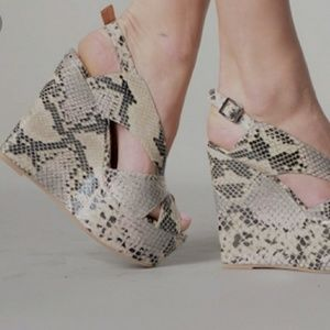 Jeffrey Campbell wedges. Size 8